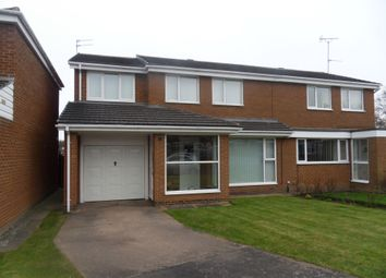 Thumbnail 4 bed semi-detached house for sale in Ludlow Court, Kingston Park, Newcastle Upon Tyne