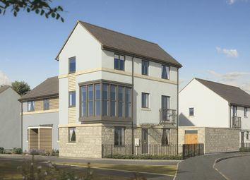 "Thumbnail 4 bed town house for sale in ""The Cromwell"" at Pomphlett Farm Industrial, Broxton Drive, Plymouth"