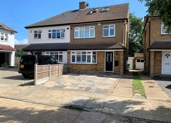 Thumbnail 4 bed semi-detached house for sale in Eugene Close, Gidea Park, Romford