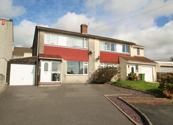 Thumbnail 3 bedroom semi-detached house for sale in Boringdon Close, Plympton, Plymouth
