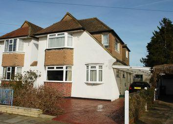 Thumbnail 3 bed link-detached house for sale in Hollington Crescent, Motspur Park, New Malden