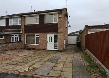 Thumbnail 3 bed semi-detached house for sale in Gardner Close, Loughborough, Leicestershire