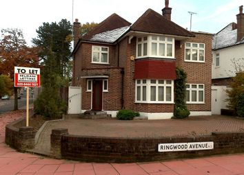 Thumbnail 4 bed detached house to rent in Ringwood Avenue, East Finchley