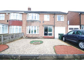 Thumbnail 4 bed semi-detached house for sale in Blanchland Avenue, Wideopen, Newcastle Upon Tyne