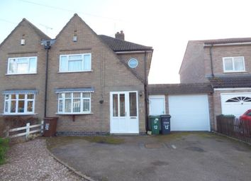 Thumbnail 3 bed semi-detached house for sale in Keble Drive, Syston, Leicester