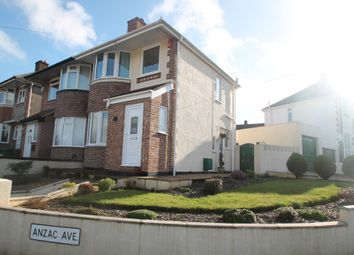 Thumbnail 3 bed semi-detached house for sale in Anzac Avenue, Plymouth