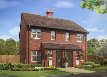 "Thumbnail 2 bed semi-detached house for sale in ""The Alnwick "" at Bannold Road, Waterbeach, Cambridge"