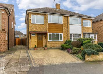 Thumbnail 3 bed semi-detached house for sale in Ashdown Crescent, Cheshunt, Hertfordshire
