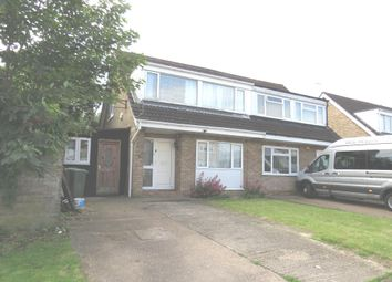 Thumbnail 3 bed semi-detached house for sale in Tennyson Drive, Newport Pagnell