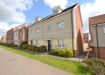 Thumbnail 4 bed town house to rent in Sir Alfred Munnings Road, Costessey, Norwich
