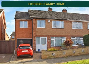 Thumbnail 4 bedroom semi-detached house for sale in Skelton Drive, West Knighton, Leicester