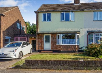 Thumbnail 3 bed semi-detached house for sale in Manor Close, Wilmington, Dartford