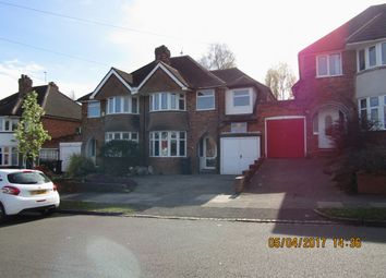 Thumbnail 4 bed semi-detached house to rent in Westridge Road, Moseley, Birmingham