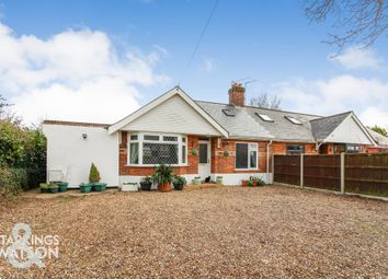 Thumbnail 3 bed semi-detached bungalow for sale in Brickle Road, Stoke Holy Cross, Norwich