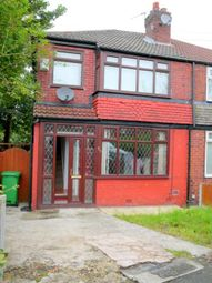 Thumbnail 3 bed semi-detached house to rent in Sidley Avenue, Blackley, Manchester