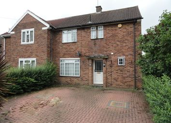 Thumbnail 3 bed semi-detached house to rent in Lewes Close, Northolt, Middlesex