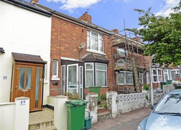Thumbnail 2 bed terraced house for sale in Garden Road, Folkestone, Kent