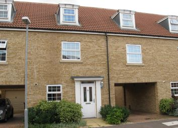 Thumbnail 4 bed terraced house to rent in Flawn Way, Eynesbury, St. Neots