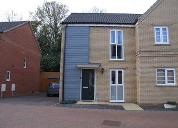 Thumbnail 2 bed semi-detached house for sale in Lords Hill, Costessey, Norwich