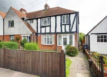Thumbnail 3 bed semi-detached house for sale in Beaumont Road, Broadwater, Worthing, West Sussex