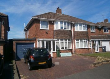 Thumbnail 3 bedroom semi-detached house to rent in Rowlands Crescent, Solihull
