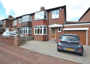 Thumbnail 3 bedroom semi-detached house for sale in Dovedale Gardens, High Heaton, Newcastle Upon Tyne