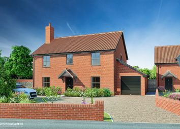 Thumbnail 4 bed detached house for sale in Castle Hill Road, New Buckenham, Norwich