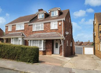 Thumbnail 4 bed semi-detached house for sale in Clauds Close, Hazlemere, High Wycombe