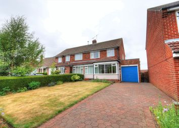 Thumbnail 3 bed semi-detached house for sale in Crawhall Crescent, Morpeth