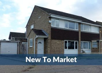 Thumbnail 3 bed semi-detached house for sale in Lowick Court, Moulton, Northampton