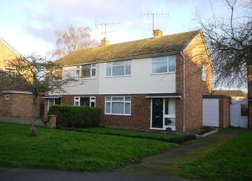 Thumbnail 3 bed semi-detached house for sale in Sweeting Avenue, Little Paxton, St. Neots, Cambridgeshire