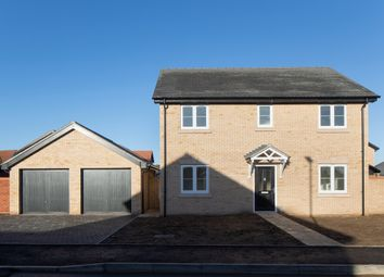 Thumbnail 4 bed detached house for sale in Hicfield Road, Beck Row, Bury St. Edmunds
