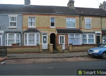 Thumbnail 3 bedroom terraced house to rent in Belsize Avenue, Peterborough, Cambridgeshire.