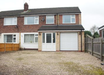 Thumbnail 4 bedroom semi-detached house for sale in Ivanhoe Close, Glenfield, Leicester