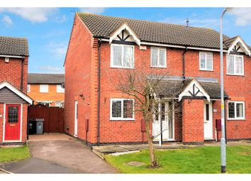 Thumbnail 3 bed semi-detached house for sale in Moortown Close, Grantham