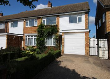 Thumbnail 3 bed semi-detached house to rent in Tiverton Road, Bedford