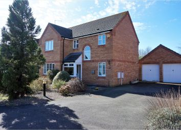 Thumbnail 4 bed detached house for sale in Burghley Close, Peterborough