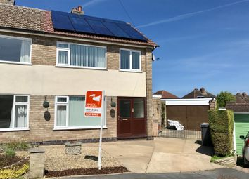 Thumbnail 3 bed semi-detached house for sale in Browning Close, Melton Mowbray