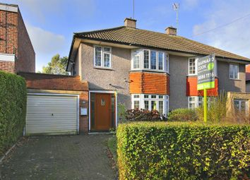 Thumbnail 3 bed semi-detached house for sale in Lonsdale Drive, Enfield EN2, Oakwood,