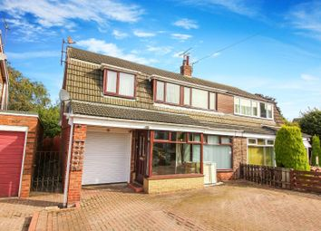 Thumbnail 4 bed semi-detached house for sale in Staward Avenue, Seaton Delaval, Whitley Bay