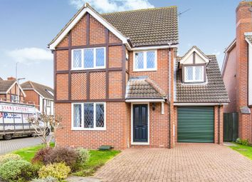 Thumbnail 4 bed detached house for sale in Hatley Close, St. Neots