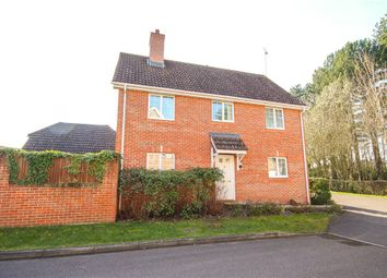 Thumbnail 4 bed detached house for sale in Ravelin Close, Fleet