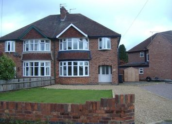 Thumbnail 3 bed semi-detached house to rent in Holt Drive, Loughborough