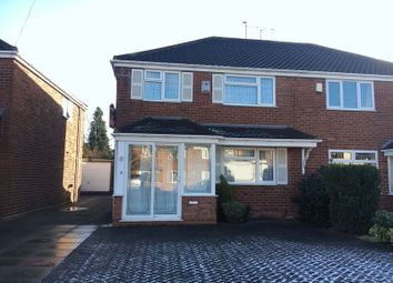 Thumbnail 3 bed semi-detached house to rent in Cherry Tree Avenue, Walsall