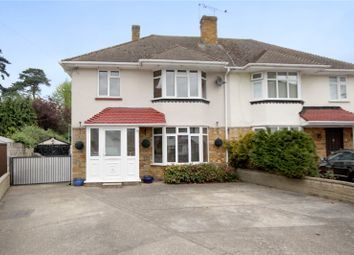 Thumbnail 3 bed semi-detached house for sale in Holmwood Close, Addlestone, Surrey