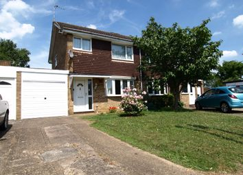 Thumbnail 3 bed semi-detached house for sale in Carlyle Close, Newport Pagnell, Buckinghamshire