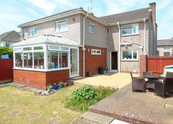 Thumbnail 3 bed semi-detached house for sale in Dinas Road, Penarth