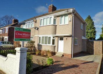 Thumbnail 3 bed semi-detached house for sale in Waterpark Road, Prenton, Merseyside