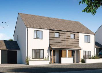 Thumbnail 3 bed semi-detached house for sale in Halwyn Road, Crantock, Newquay