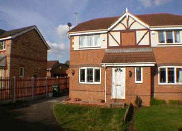 Thumbnail 2 bed semi-detached house to rent in Chatsworth Drive, Rossington, Doncaster